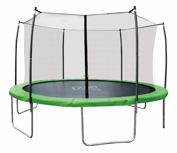 The Pure Fun Dura-Bounce 12ft Trampoline with Enclosure will be your family's favorite outdoor toy. The top quality round trampoline provides the ultimate bounc
