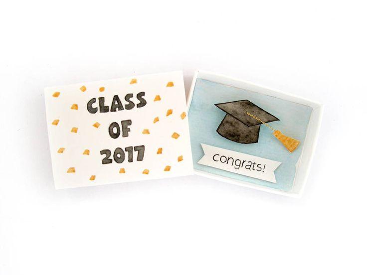 Tarjeta de graduación tarjeta de felicitaciones matchbox