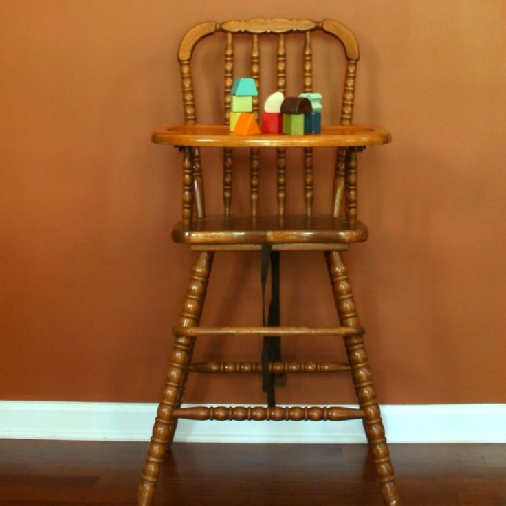 Old Wooden Baby High Chairs