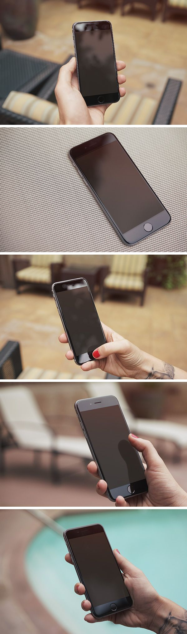 5 iPhone 6 Photo MockUps | GraphicBurger