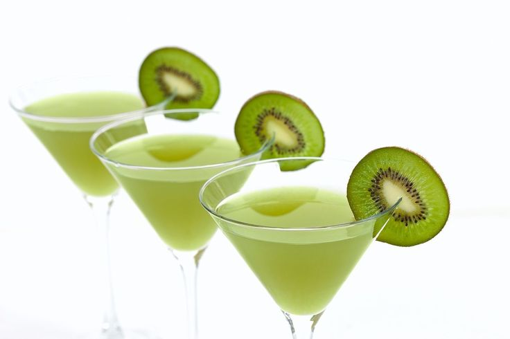 Enjoy the simple taste of the popular Kiwi Martini. The cocktail recipe is unbelievably simple, just mix your favorite vodka with fresh kiwi and syrup.