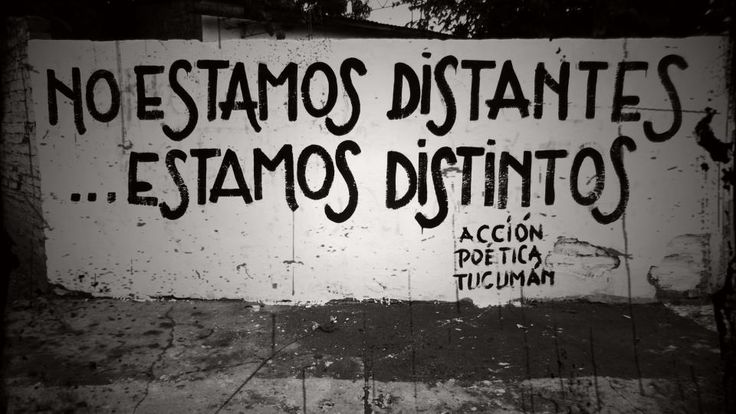 no estamos distantes, estamos distintos.