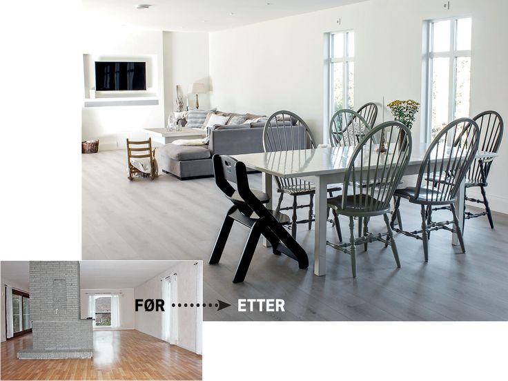 For en totalforandring!  Ekte Interiør har gjort huset fra 1972 til en skikkelig interiørperle. #flisekompaniet