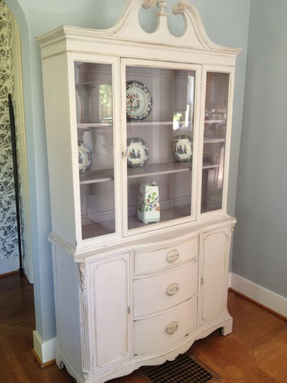 Fresh Painting Old China Cabinet