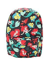 HOTTOPIC.COM - Disney The Little Mermaid Ariel Flounder Sebastian Backpack