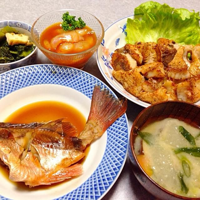 メバルの煮付け、 メバルのソテー、 メバルのヅケ、 カツオ菜のおひたし、 味噌汁 です。 - 31件のもぐもぐ - しつこくメバル by Orie Ueki