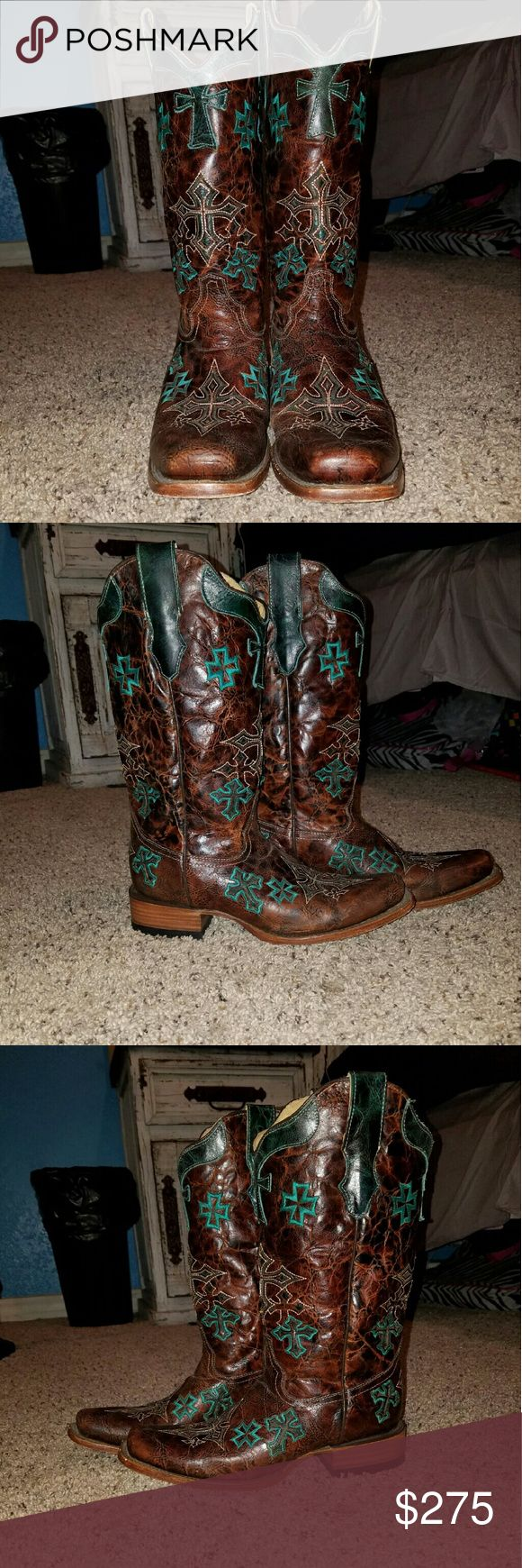 Corral Boots These boots are perfect for my country girls out there! They are perfect for going dancing, rodeos, or just wearing them to wear them! Shoes