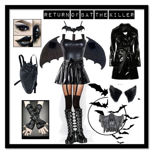 """Return of bat the killer"" by toxicjooker666 ❤ liked on Polyvore featuring ASOS, Maison Margiela, Demonia and Disney"