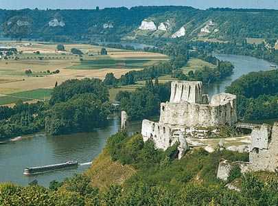 Crepon, Normandy, France 12th century | ... 12th-century castle, overlooks the Seine River in the Normandy region