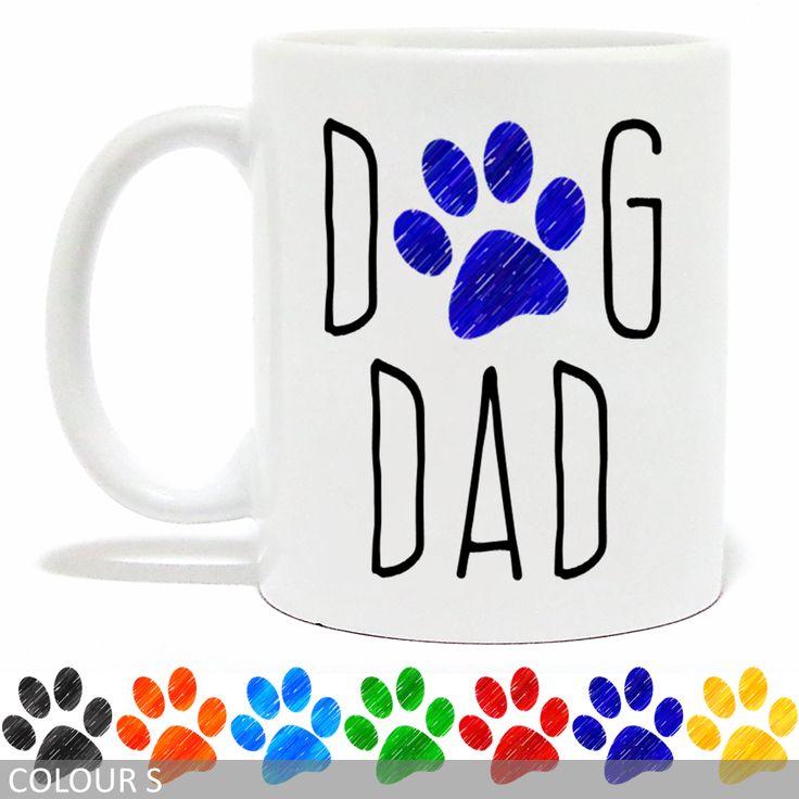 Dog Dad Mug - Pencil Paw Print