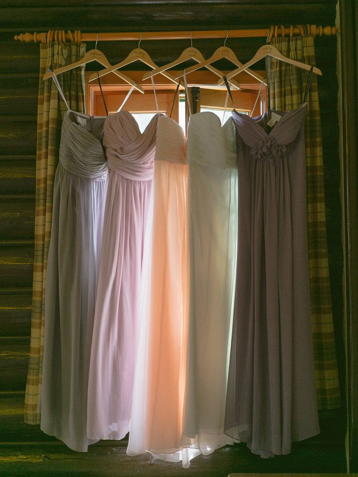 Colourful bridesmaids dresses; PHOTOGRAPHY Joel + Justyna Bedford;