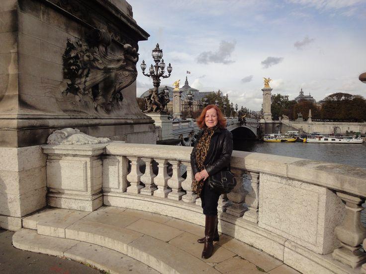 Anna on the Alexandre Bridge