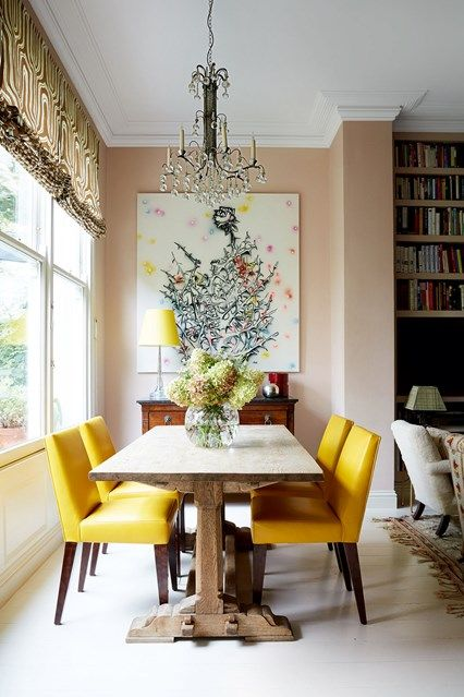 25 best ideas about yellow dining chairs on pinterest for Yellow dining room ideas