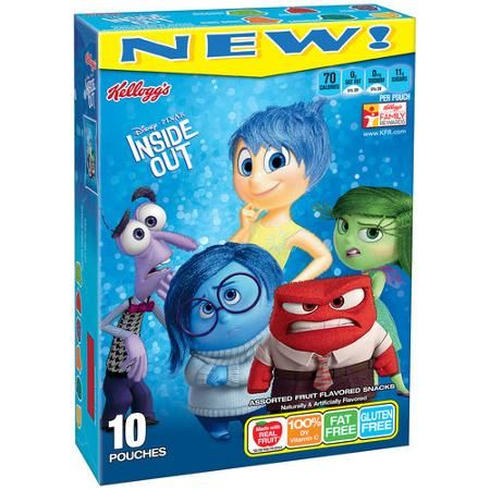 Kellogg's Disney/Pixar Inside Out Fruit Flavored Snacks, 10 count ...