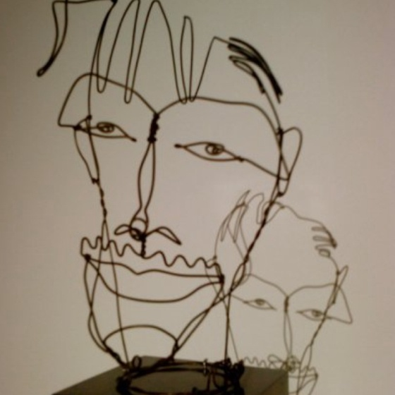 Contour Line Drawing With Wire : Best images about wire contour sculptures on pinterest