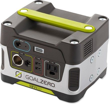 A plug-and-play, gas-free mini powerhouse, the Goal Zero Yeti 150 Portable Power Generator cranks out portable power to keep your lights, phones and laptops juiced up when the power is down. Available at REI, 100% Satisfaction Guaranteed.
