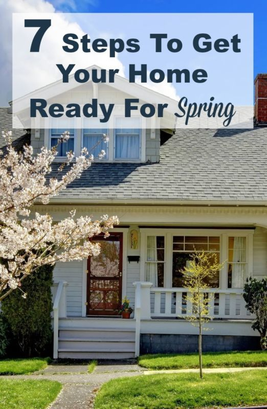 7 steps to get your home ready for spring weather so you can enjoy the warmer weather and fresh air around your house. #ad