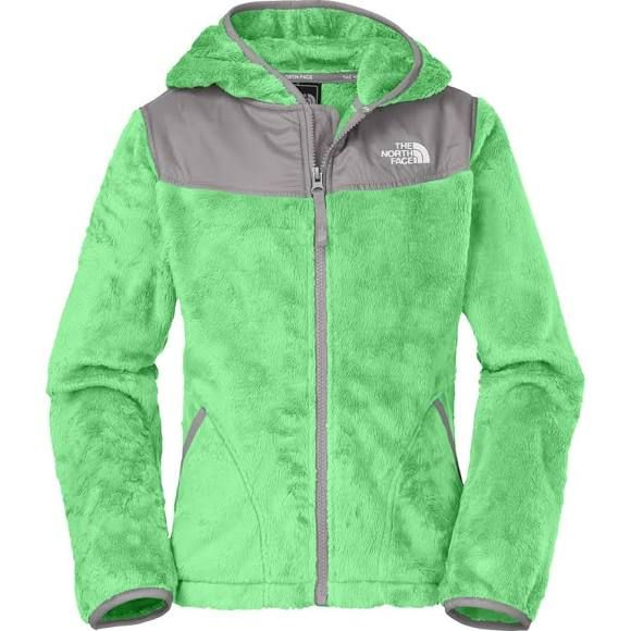 North face jacket lime green