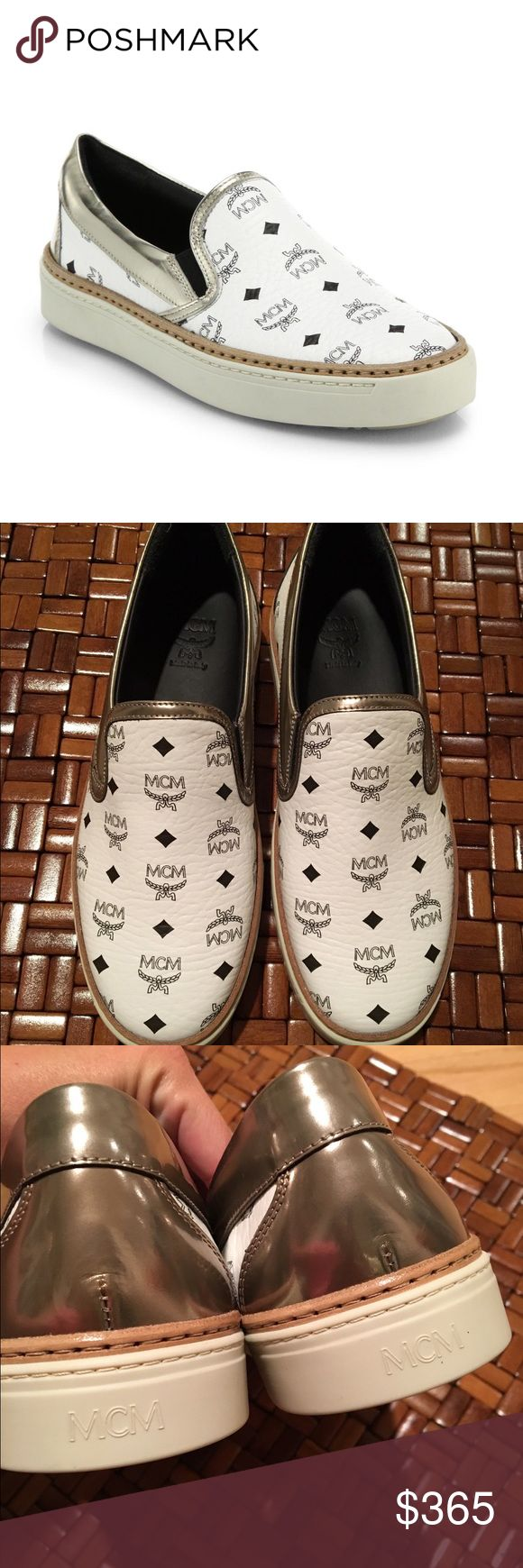 MCM Visetos Brand new authentic MCM Visetos in white. Size 39, but would probably fit 8.5, never worn. No box or dustbag. MCM Shoes Sneakers