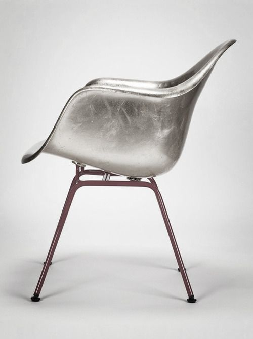 Do they actually manufactuer these Eames Molded Plastic Chairs in metallic silver or did someone commit a spray painting sin?? Looks cool tho.