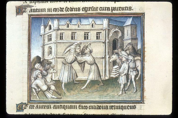 Publius Papinius Statius Thebais , with the argumenta antiqua; Achilleis, Francja, ok. 1405, f13