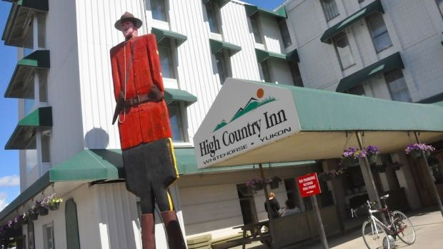 The Coast High Country Inn in Whitehorse, where Prince William and Kate spent Tuesday night. They also ordered a pizza.