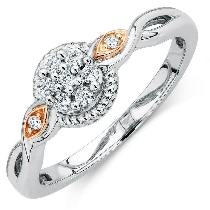 1/10 Carat TW Diamond Cluster Ring