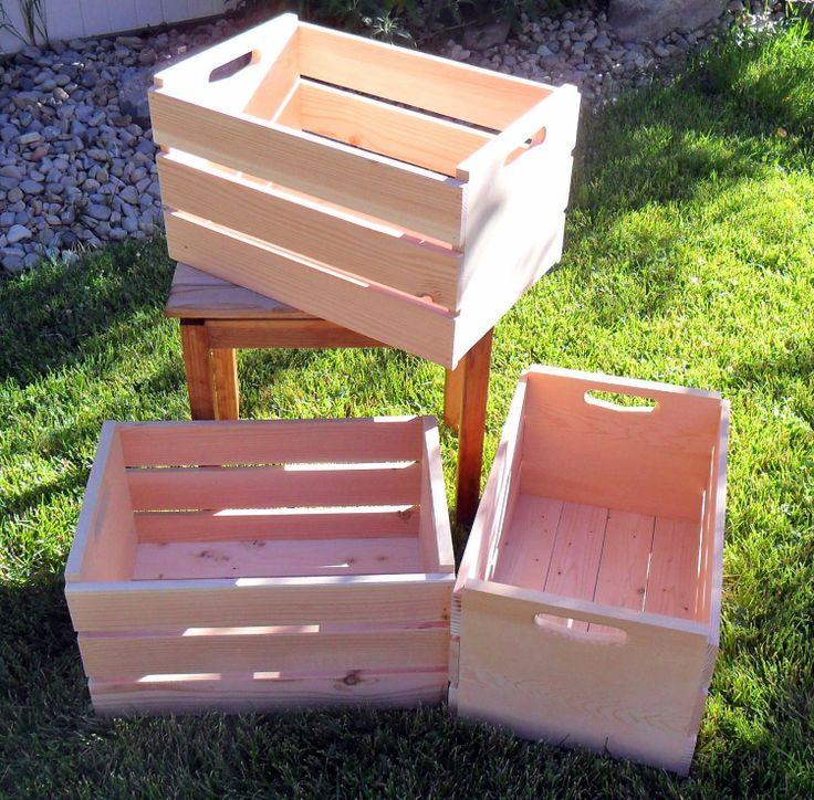 Bushel Unfinished Wooden Storage Crate by EmmersonWoodworks, $26.00