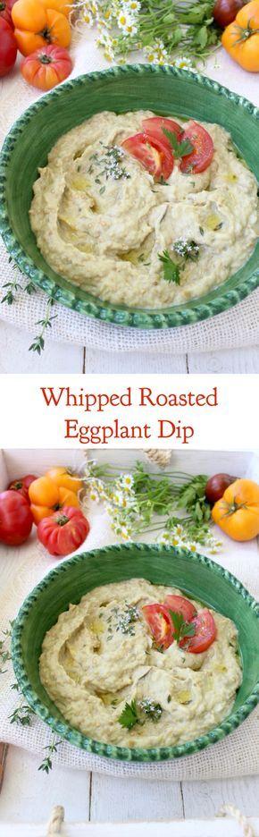 Whipped Roasted Eggplant Dip ( Romanian Salata de Vinete) | CiaoFlorentina.com @CiaoFlorentina