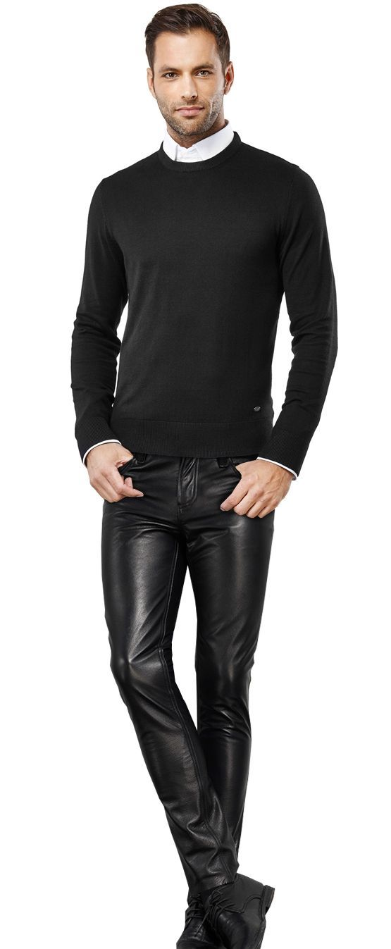 Leather pants are not on the list of business casual options.