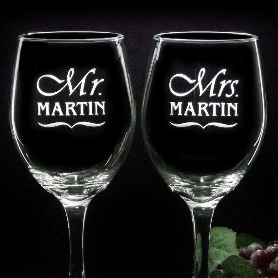 Custom Laser Etched Wine Glasses