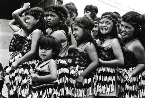 Young kapa haka performers. From the series: Ratana Pa; 1976; John Miller.