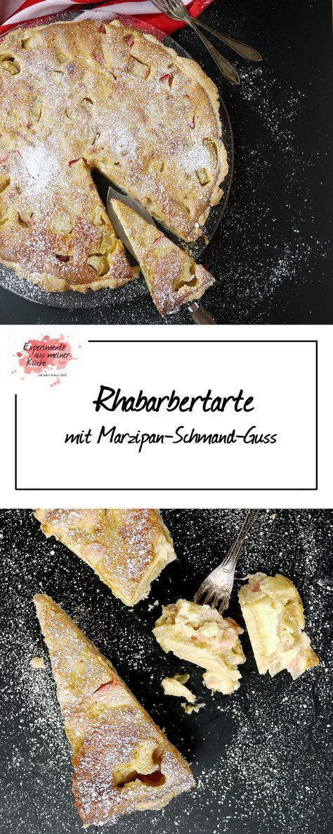 Experimente aus meiner Küche: Rhabarbertarte mit Marzipan-Schmand-Guss