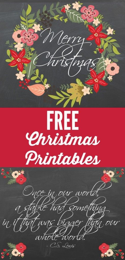 BEAUTIFUL! These free Christmas printables are absolutely stunning. Get them for free at Designer Trapped in a Lawyer's Body!