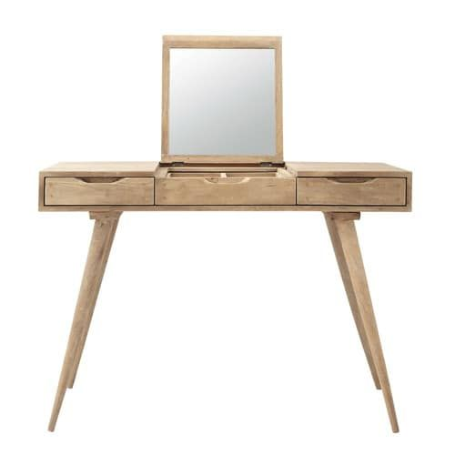 Solid mango wood vintage dressing table W 112cm