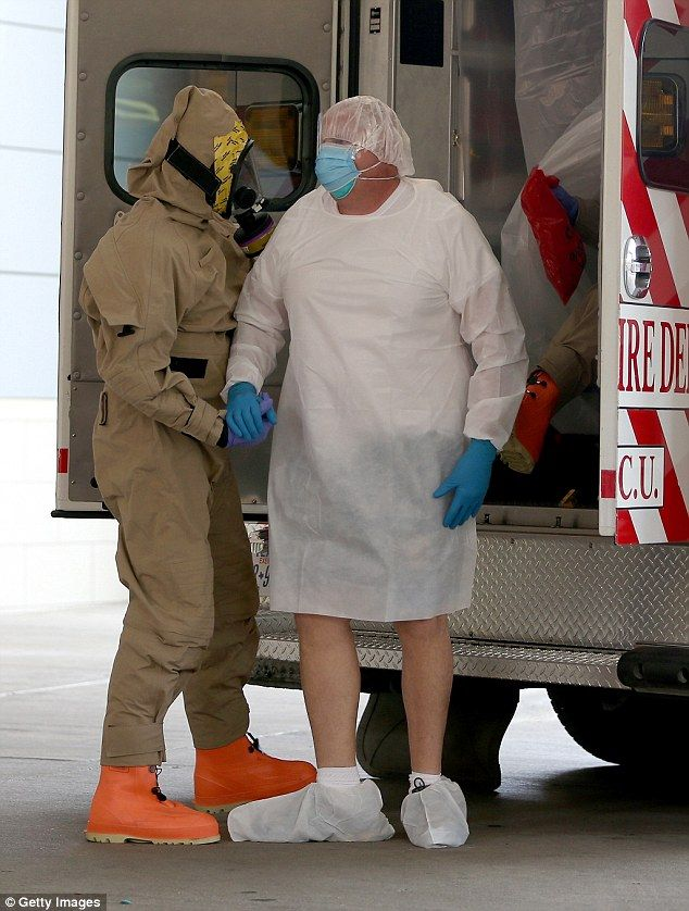A possible Ebola patient, believed to be Dallas County Sheriff's Deputy Michael Monning, i...
