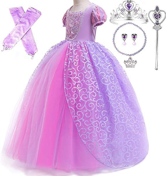 Romy S Collection Princess Rapunzel Special Edition Purple Party Deluxe Costume Dress Up Set Disney Princess Dress Up Princess Dress Kids Cinderella Dress Up