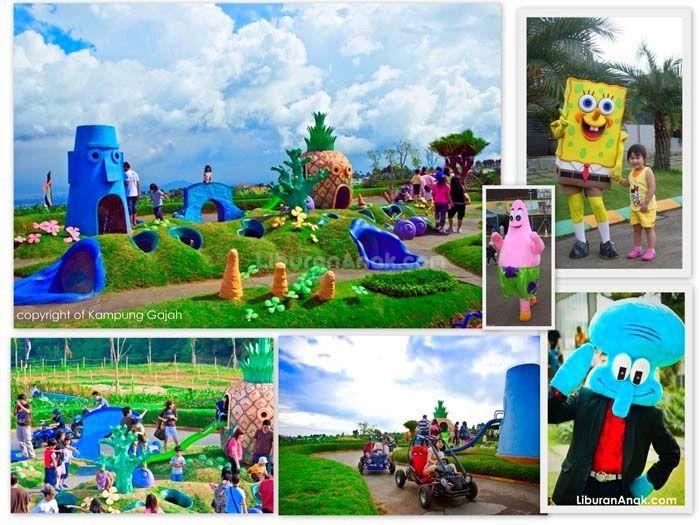 Kampung Gajah Wonderland - Kids Holiday Spots - Liburan Anak - Informasi & Event Liburan Keluarga Address :Jalan Sersan Bajuri KM 3,8 Lembang - Bandung, Jawa Barat Phone :022-8888 4011 atau 022-8888 4012 Opening hours :Weekdays : 09:00 - 19:00 WIB , Weekend & Public Holiday : 08:00 - 20:00 WIB