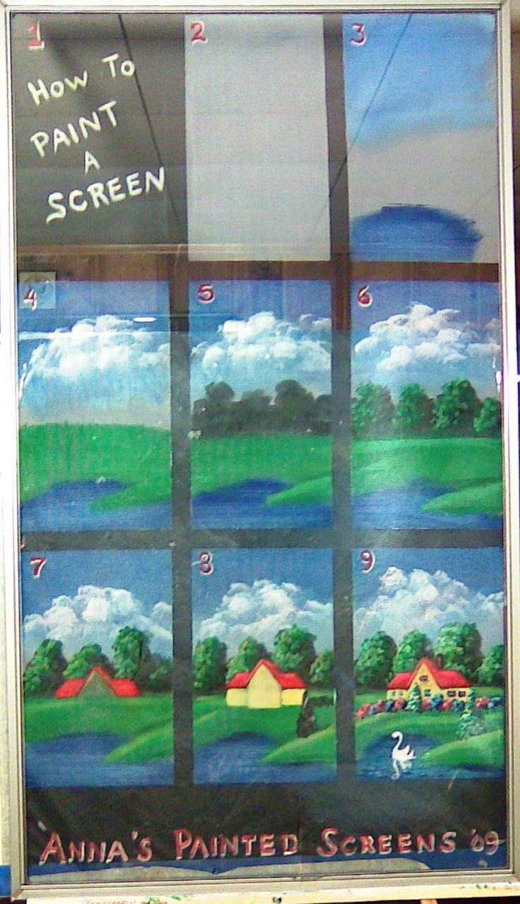 How to paint a Baltimore window from Anna's Painted Screens screenhttp://www.paintedscreens.synthasite.com/How_to_Paint_a_Baltimore_Screen.php