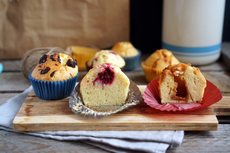 Ванильные маффины с разными начинками, пошаговый фото рецепт, кулинарный блог andychef.ru