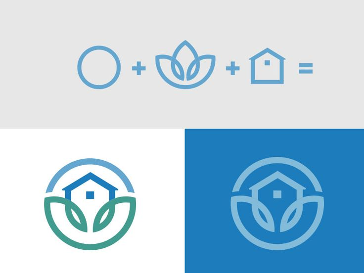 The Healthy Home logo & concept progression by The Creative Canopy via Dribbble  circle + lotus + house