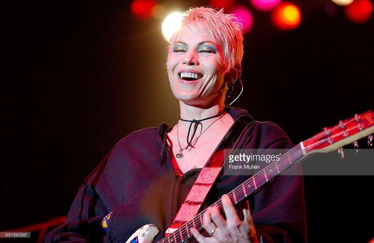 Joan Jett onstage during Music Midtown 2002 - Atlanta at Music Midtown in Atlanta, Georgia, United States.