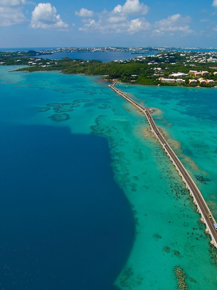 The Causeway, Bermuda — great road to ride by scooter .Pin provided by Elbow Beach Cycles http://www.elbowbeachcycles.com