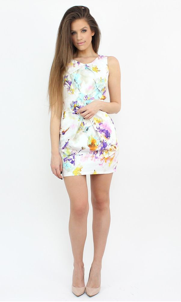 Romantic Floral Dress for engagement parties and weddings...:)  #moda #dress #shopping #floral #wedding #style #fashion