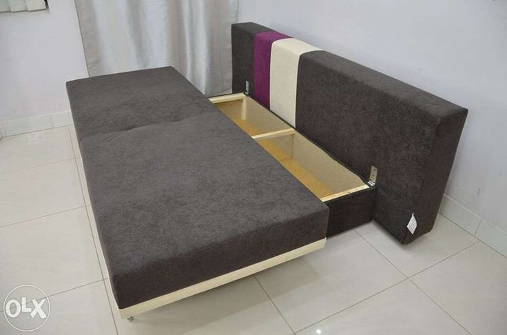 View Custom Made Stripe Sorage Sofa Bed For Sale In