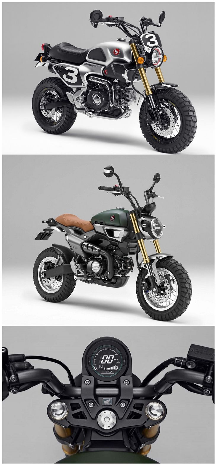 Honda Grom 50 Scrambler Concept. Would be cool if they actually produced it.