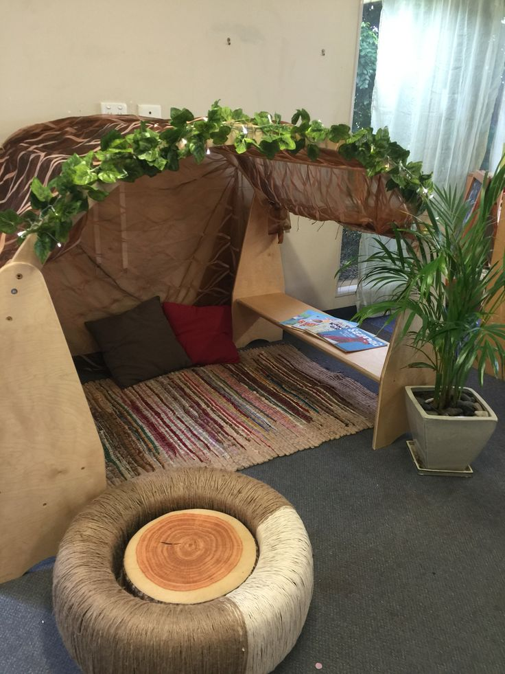 Relaxation hit, where children can sit in to calm down, read stories, look at the plants.   And our tyre with twine wrapped around it.