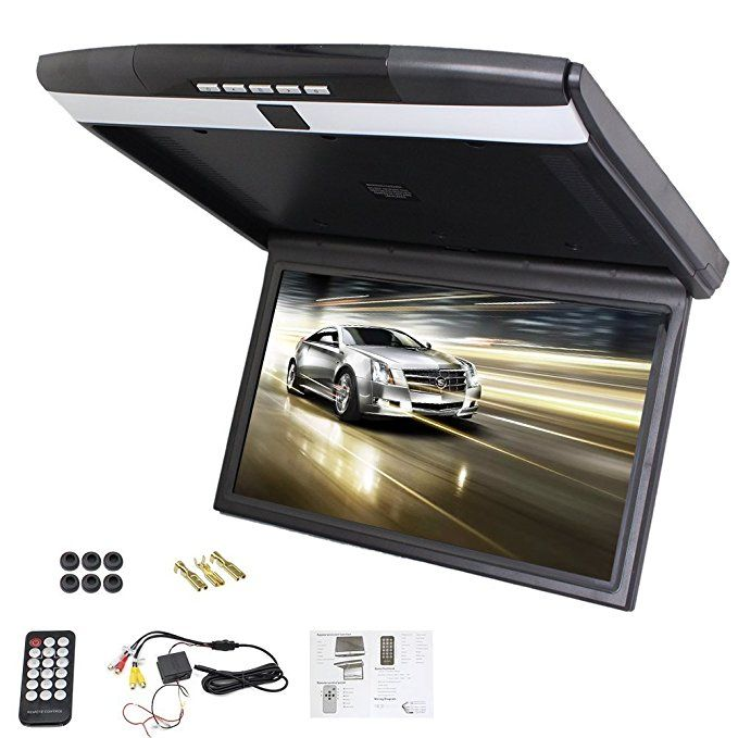 New Car Roof Mount Display Flip Down Monitor Overhead Player Hd 1080p Video Player Wide Lcd Screen Display With Fm Transmit Us Video Player Overhead Car Videos