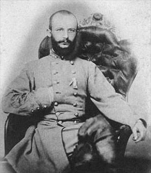 Stephen Dodson Ramseur (May 31, 1837 – October 20, 1864) was a Confederate general in the American Civil War, at one point the youngest in the army. He impressed Lee by his actions at Chancellorsville, where his brigade led Stonewall Jackson's flank attack, taking 50% casualties. On the first day of Gettysburg, he dramatically routed a Union brigade, sending it running through the town, though his superiors did not authorise further pursuit. He was born in Lincolnton, North Carolina
