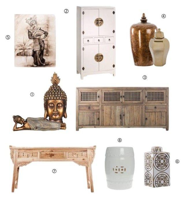 Estilo Etnico Asiatico by victoriammg on Polyvore featuring interior, interiors, interior design, hogar, home decor and interior decorating